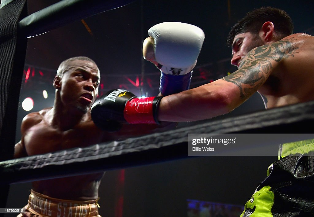 Peter Quillin punches Michael Zerafa during a fight at Foxwoods Resort Casino on September 12, 2015 in Mashantucket, Connecticut.