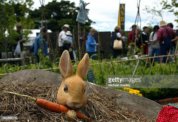 'Peter Rabbit' at the Palmers Gardenworld and McGregors Horticulture's celebration of 100 years of Beatrix Potter's 'Tale of Peter Rabbit' at this...