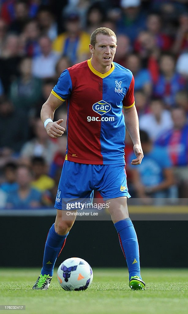<a gi-track='captionPersonalityLinkClicked' href=/galleries/search?phrase=Peter+Ramage&family=editorial&specificpeople=651145 ng-click='$event.stopPropagation()'>Peter Ramage</a> of Crystal Palace during a Pre Season Friendly between Crystal Palace and Lazio at Selhurst Park on August 10, 2013 in London, England.