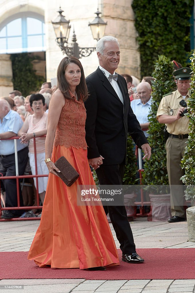Peter Ramsauer and wife Susanne Ramsauer attend the Bayreuth Festival opening on July 25, 2013 in Bayreuth, Germany.