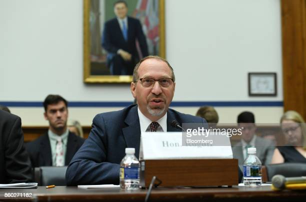 Peter Rogoff chief executive officer of Sound Transit speaks during a House Transportation Committee hearing in Washington DC US on Wednesday Oct 11...