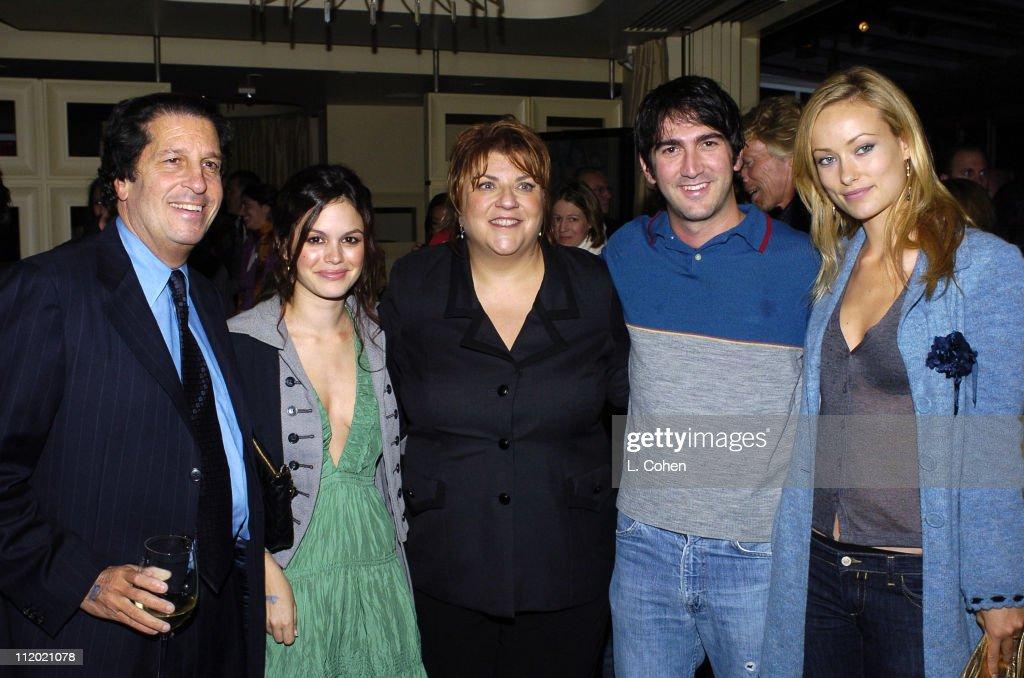 Peter Roth of Fox, Rachel Bilson of 'The O.C.', Gail Berman, president of 20th Century Fox, Josh Schwartz executive producer of 'The O.C.' and Olivia Wilde of 'The O.C.'