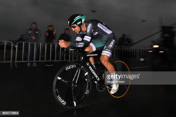 Peter Sagan of Slovakia and BoraHansgrohe competes during stage one of Le Tour de France 2017 a 14km individual time trial on July 1 2017 in...