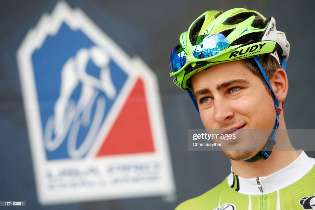 <a gi-track='captionPersonalityLinkClicked' href=/galleries/search?phrase=Peter+Sagan&family=editorial&specificpeople=4846179 ng-click='$event.stopPropagation()'>Peter Sagan</a> of Slovakia and Cannondale Pro Cycling signs in before stage four of the 2013 USA Pro Cycling Challenge from Steamboat Springs to Beaver Creek on August 22, 2013 in Steamboat Springs, Colorado.
