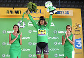 Peter Sagan of Slovakia and Team Tinkoff keeps the jersey of best sprinter following stage 17 between Bern and FinhautEmosson on July 20 2016 in...