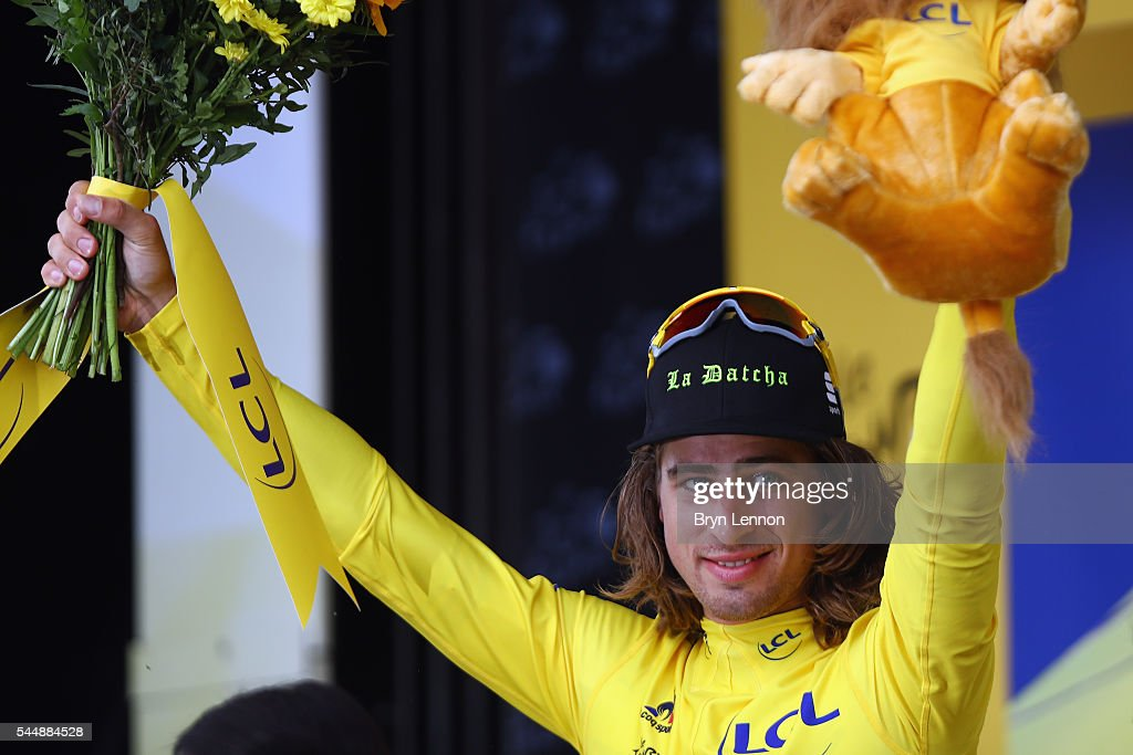 Peter Sagan of Slovakia and the Tinkoff team retained his leader's yellow jersey after stage three of the 2016 Tour de France, a 223.5km road stage from Granville to Angers, on July 4, 2016 in Angers, France.