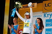 Peter Sagan of Slovakia and TinkoffSaxo dons the white jersey following stage nine of the 2015 Tour de France a 28km team time trial between Vannes...