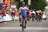 Peter Sagan of Slovakia celebrates winning the Elite Men World Road Race Championship on day eight of the UCI Road World Championships on September...