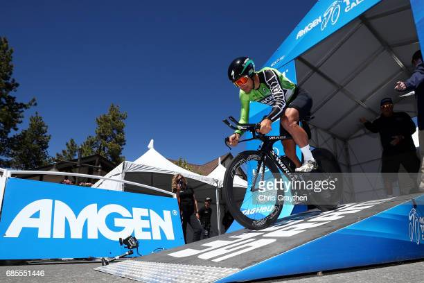 Peter Sagan of Slovakia riding for BoraHansgrohe starts during stage five of the AMGEN Tour of California from Ontario to Mt Baldy on May 18 2017 in...
