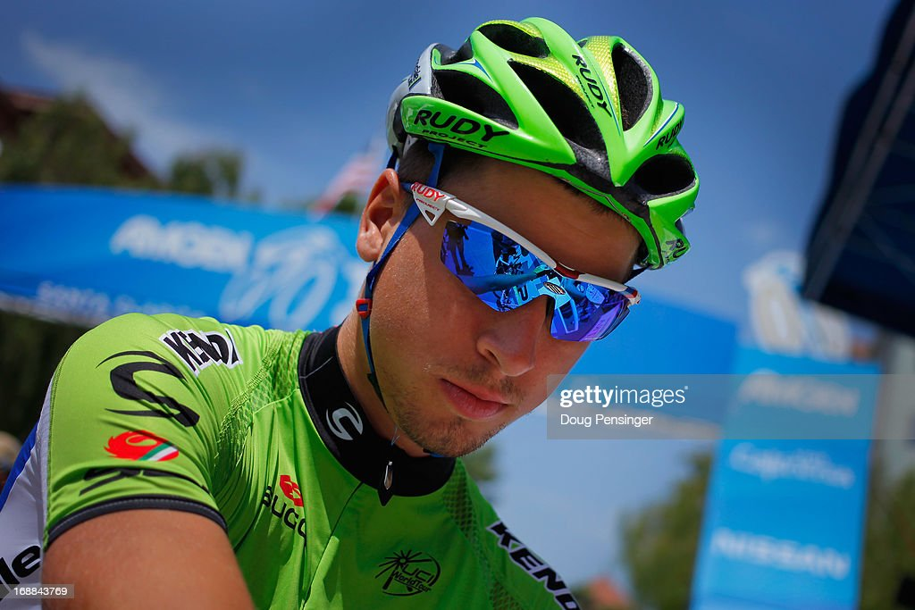 Peter Sagan of Slovakia riding for the Cannondale Pro Cycling Team prepares for the start of Stage Four of the 2013 Amgen Tour of California from Santa Clarita to Santa Barbara on May 15, 2013 in Santa Clarita, California.