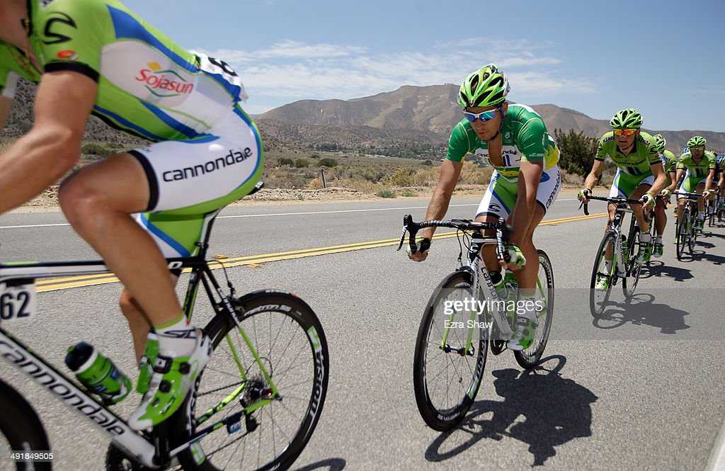 <a gi-track='captionPersonalityLinkClicked' href=/galleries/search?phrase=Peter+Sagan&family=editorial&specificpeople=4846179 ng-click='$event.stopPropagation()'>Peter Sagan</a> of Slovakia riding for the Cannondale Pro Cycling Team rides with the peloton during stage seven of the 2014 Amgen Tour of California from Santa Clarita to Pasadena on May 17, 2014 in Pasadena, California.