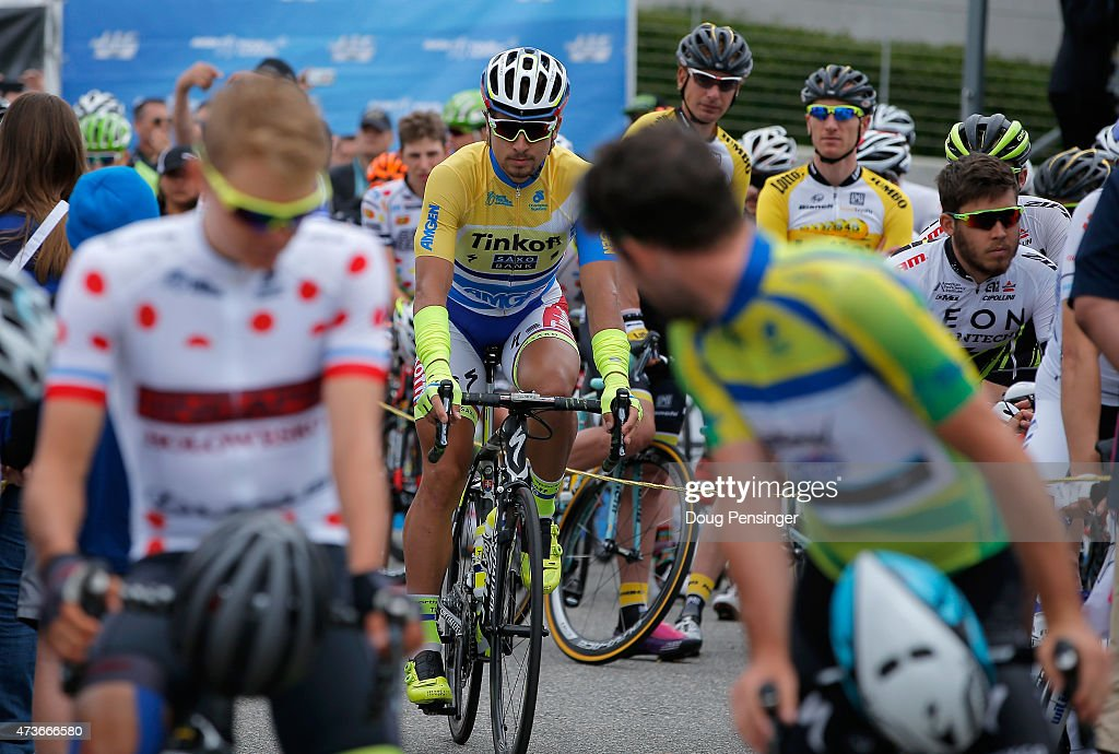 Peter Sagan (C) of Slovakia riding for Tinkoff-Saxo in the ...