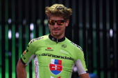 Peter Sagan of the Czech Republic and Cannondale attends the 2014 Tour de France Team Presentation prior to the 2014 Le Tour de France Grand Depart...