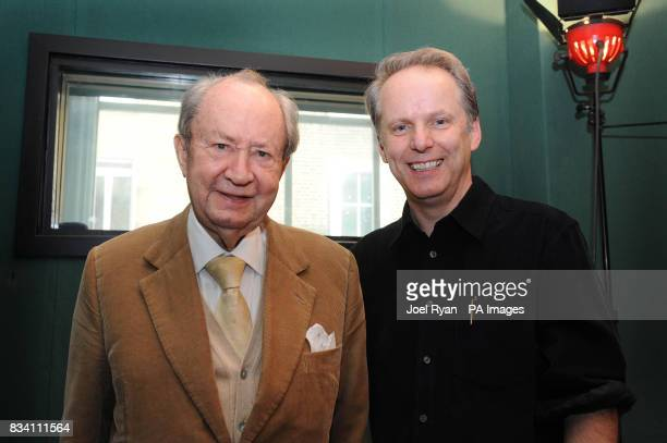 Peter Sallis with Wallace amp Gromit creator Nick Park on the occasion of his 87th birthday whilst in the studio recording for the forthcoming...