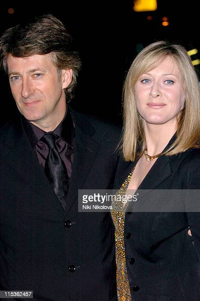 Peter Salmon and Sarah Lancashire during RTS Programme Awards 2004 at Grosvenor House Hotel in London Great Britain