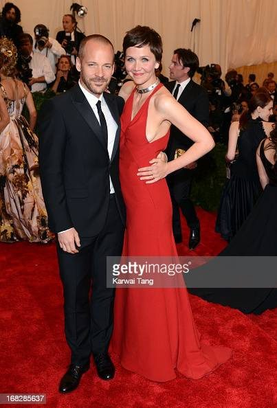 Peter Sarsgaard and Maggie Gyllenhaal attend the Costume Institute Gala for the 'PUNK Chaos to Couture' exhibition at the Metropolitan Museum of Art...