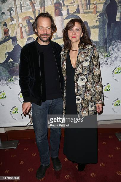 Peter Sarsgaard and Maggie Gyllenhaal attend the New York City Center Gala at New York City Center on October 24 2016 in New York City