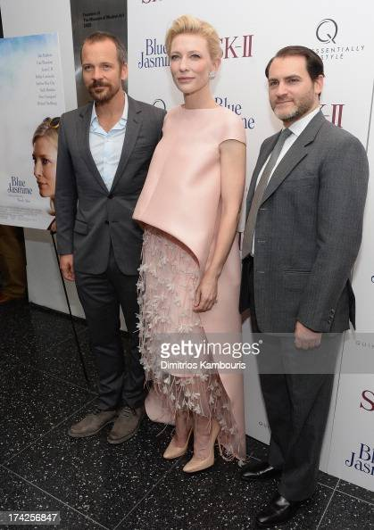 Peter Sarsgaard Cate Blanchett and Michael Stuhlbarg attend the 'Blue Jasmine' New York Premiere at the Museum of Modern Art on July 22 2013 in New...