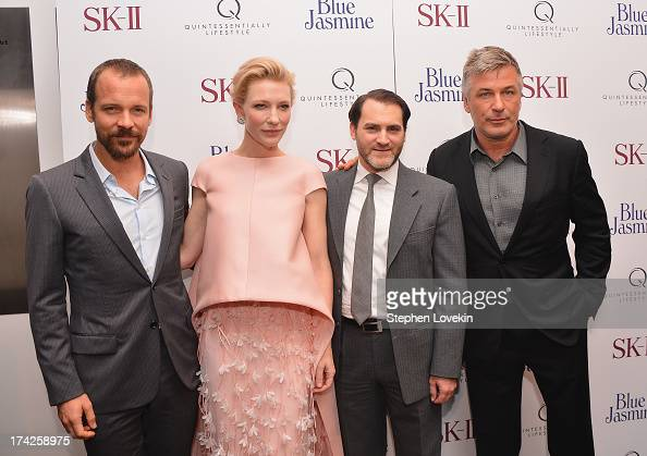 Peter Sarsgaard Cate Blanchett Michael Stuhlbarg and Alec Baldwin attend the 'Blue Jasmine' New York Premiere at the Museum of Modern Art on July 22...