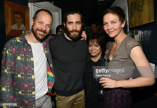 Peter Sarsgaard Jake Gyllenhaal Julie Panebianco and Maggie Gyllenhaal attends Pussy Riot and The Voice Project party at The Spotted Pig on February...