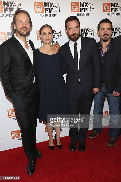 Peter Sarsgaard Natalie Portman Pablo Larrain and Max Casella attend the screening of 'Jackie' during the 54th New York Film Festival at Alice Tully...