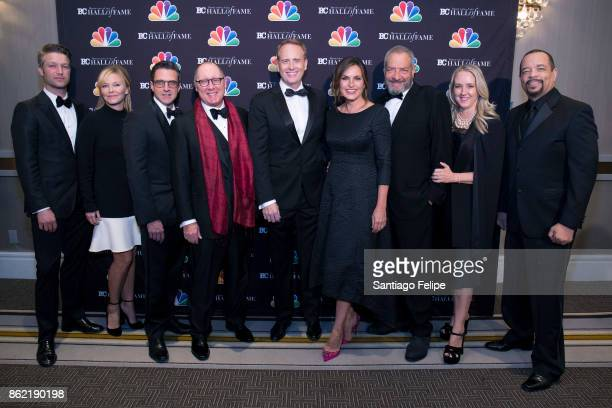 Peter Scanavino Kelli Giddish Raul Esparza James Spader Bob Greenblatt Mariska Hargitay Dick Wolf Guest and IceT attend the 2017 Broadcasting Cable...