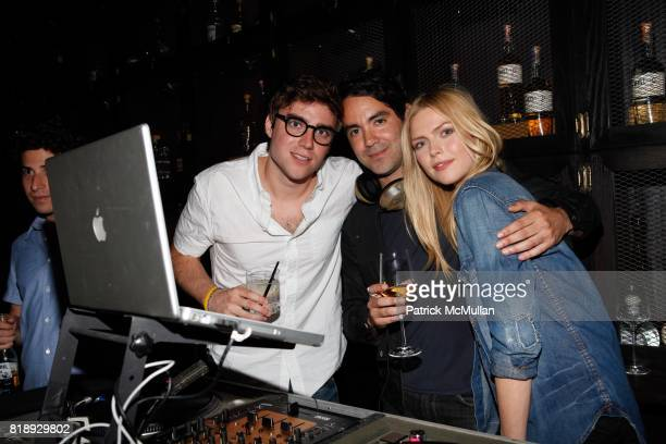 Peter Schafer DJ Marty Snyder and Corinna Drengk attend GET LOUD IN THE LIBRARY Tanteo Tequila Celebrates One Year and La Biblioteca Celebrates One...