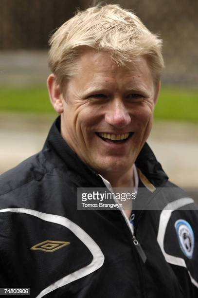 Peter Schmeichel at the 10 Downing Street in London United Kingdom