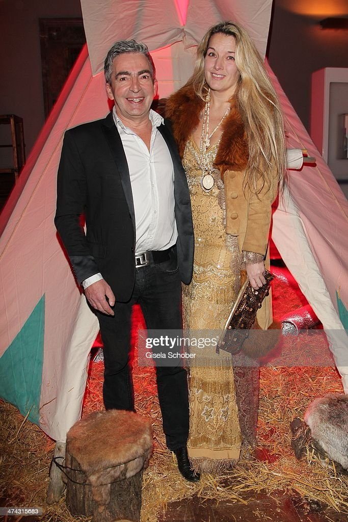 Peter Schoenhofen and wife Olivia of KARE DESIGN attend the Dresswestern party ( by Dresscoded and Ingolstadt Village) at Rilano No 6 on February 22, 2014 in Munich, Germany.