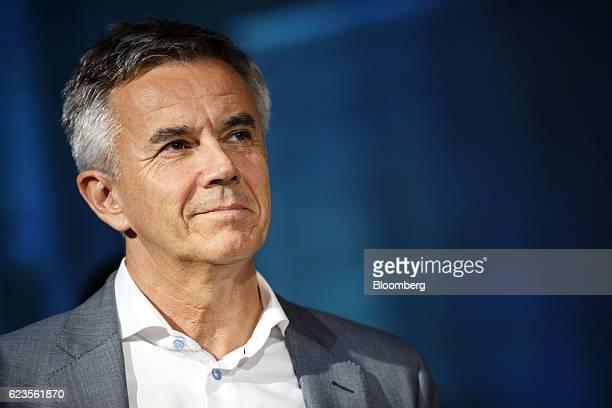 Peter Schwarzenbauer board member responsible for the Mini brand at Bayerische Motoren Werke AG smiles as the MINI Countryman compact sports utility...