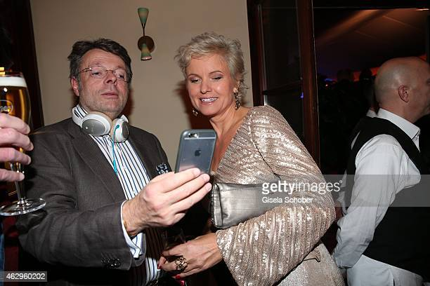 Peter Schwuchow Carola Ferstl during the Bild 'Place to B' Party at Borchardt Restaurant on February 7 2015 in Berlin Germany