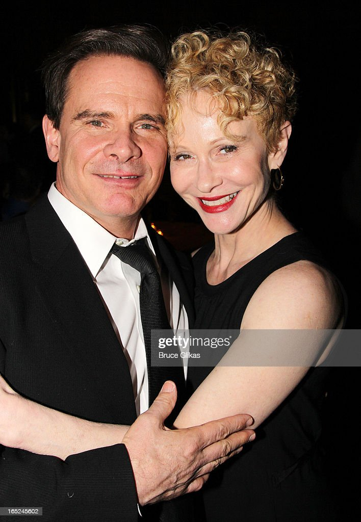 <a gi-track='captionPersonalityLinkClicked' href=/galleries/search?phrase=Peter+Scolari&family=editorial&specificpeople=957072 ng-click='$event.stopPropagation()'>Peter Scolari</a> and Tracy Shayne attend the opening night party for Broadway's 'Lucky Guy' at Gotham Hall on April 1, 2013 in New York City.