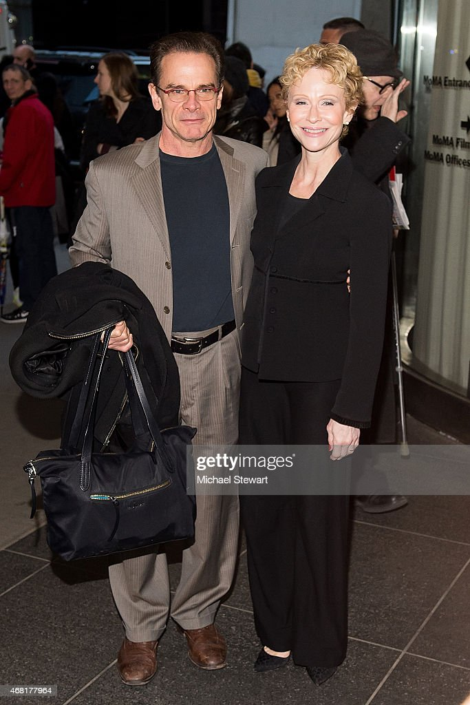 <a gi-track='captionPersonalityLinkClicked' href=/galleries/search?phrase=Peter+Scolari&family=editorial&specificpeople=957072 ng-click='$event.stopPropagation()'>Peter Scolari</a> (L) and Tracy Shayne attend the 'Woman In Gold' New York Premiere at The Museum of Modern Art on March 30, 2015 in New York City.