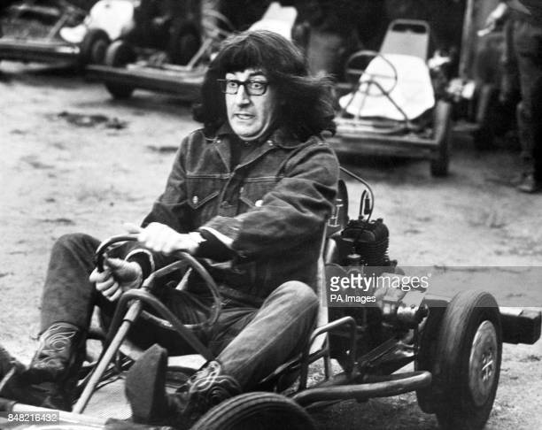 Peter Sellers in a gokart during filming of his new film 'Whats new Pussycat' a United Artist release which opens in London in August 1965