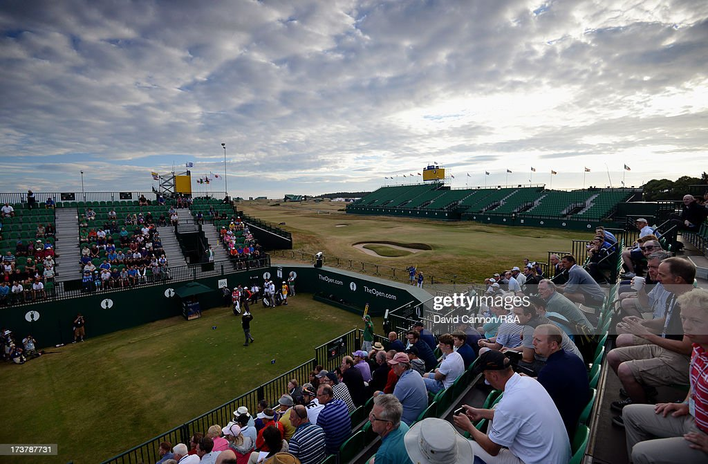 <a gi-track='captionPersonalityLinkClicked' href=/galleries/search?phrase=Peter+Senior&family=editorial&specificpeople=179459 ng-click='$event.stopPropagation()'>Peter Senior</a> of Australia hits the opening tee shot on the 1st hole to commence the first round of the 142nd Open Championship at Muirfield on July 18, 2013 in Gullane, Scotland.