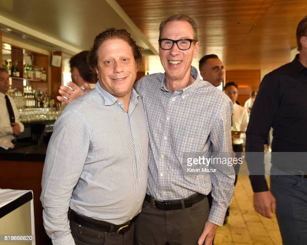 Peter Shapiro and Larry Vallon Vice President AEG attend City of Hope's The New York Spirit Of Life Campaign kick off event honoring Coran Capshaw at...