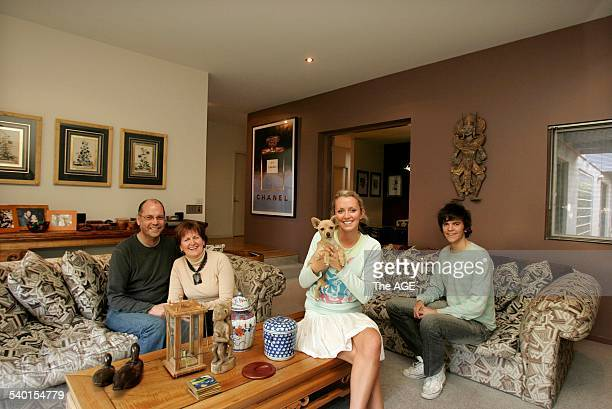Peter Sharyn Volk at home with their children Emma and Josh on 27th October 2006 THE AGE DOMAIN Picture by EDDIE JIM
