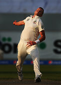 Peter Siddle of Australia bowls during Day One of the First Test between Pakistan and Australia at Dubai International Stadium on October 22 2014 in...