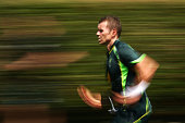 Peter Siddle of Australia bowls duriong a nets session at Sydney Cricket Ground on January 4 2015 in Sydney Australia