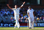 Peter Siddle of Australia celebrates the wicket of Tim Bresnan of England during day two of the 3rd Investec Ashes Test match between England and...