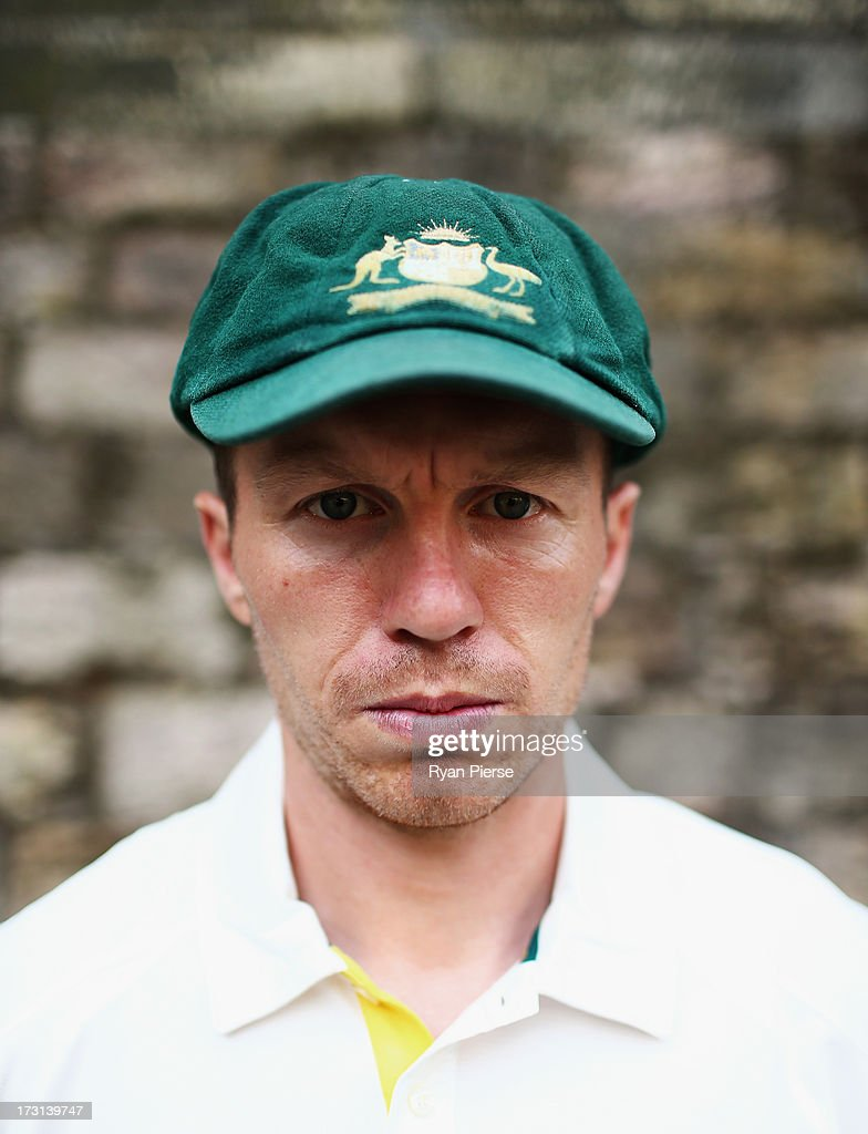 <a gi-track='captionPersonalityLinkClicked' href=/galleries/search?phrase=Peter+Siddle&family=editorial&specificpeople=2104718 ng-click='$event.stopPropagation()'>Peter Siddle</a> of Australia poses during an Australian Fast Bowlers Portrait Session at Nottingham Castle on July 8, 2013 in Nottingham, England.