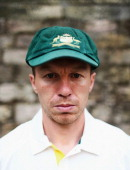 Peter Siddle of Australia poses during an Australian Fast Bowlers Portrait Session at Nottingham Castle on July 8 2013 in Nottingham England