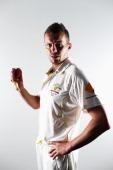 Peter Siddle of Australia poses during an Australian Test Player Portrait Session on November 19 2013 in Brisbane Australia