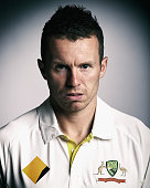 Peter Siddle of Australia poses during an Australian Test Team Portrait Session on August 11 2014 in Sydney Australia