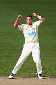 Peter Siddle of Victoria celebrates after taking the wicket of Cameron Bancroft of Western Australia during day four of the Sheffield Shield final...