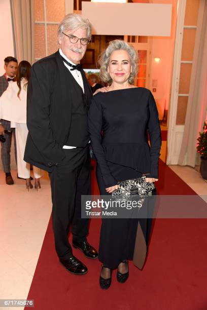 Peter Simonischek and his wife Brigitte Karner during the ROMY award at Hofburg Vienna on April 22 2017 in Vienna Austria