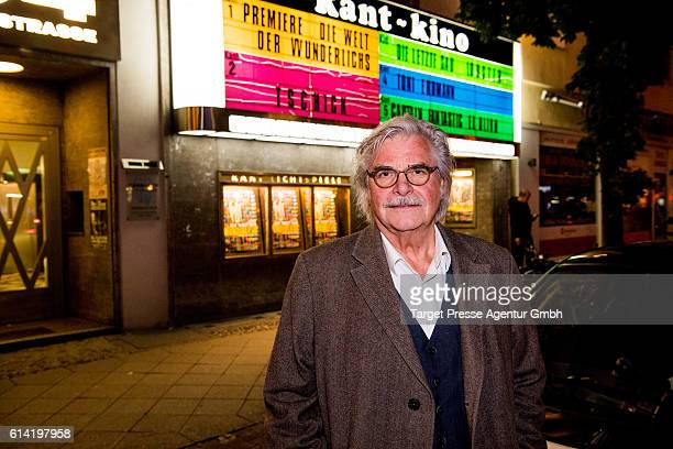 Peter Simonischek during the Berlin premiere of the film 'Die Welt der Wunderlichs' at Kant Kino on October 12 2016 in Berlin Germany