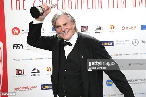 Peter Simonischek with award during the 29th European Film Awards at National Forum of Music on December 10 2016 in Wroclaw Poland
