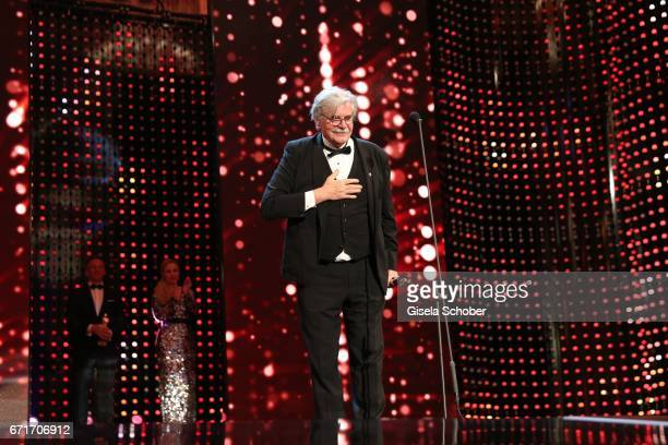 Peter Simonischek with award during the ROMY award at Hofburg Vienna on April 22 2017 in Vienna Austria