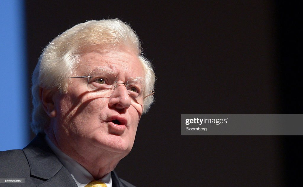 Peter Smedley, chairman of Arrium Ltd., speaks during the company's annual general meeting in Melbourne, Australia, on Monday, Nov. 19, 2012. Arrium, which rebuffed a A$1.2 billion ($1.24 billion) takeover offer from a Noble Group Ltd. and Posco-led consortium last month, said Geoff Plummer will step down as chief executive officer by the end of next year. Photographer: Carla Gottgens/Bloomberg via Getty Images